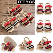 new newborn baby girls leather sandals toddler kids bowknot soft crib sole shoes