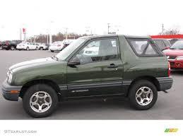 Medium Green Metallic 2001 Chevrolet Tracker Hardtop 4WD Exterior ...