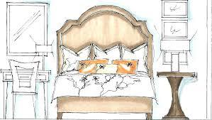 interior design bedroom sketches. Drawings Interior Design Bedroom Sketches