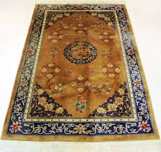 magnificent china art deco drake carpet gold colours oriental carpet from around 1950 made