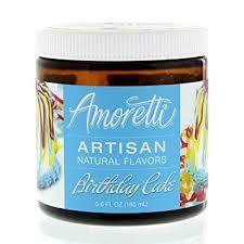 Amazoncom Amoretti Natural Artisan Flavor Birthday Cake Flavoring