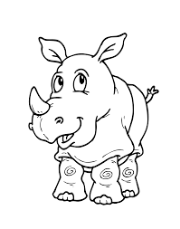 Download Thanksgiving Hippo Coloring Pages 19 Rhinoceros Cartoon