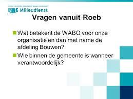 Wat betekent wabo