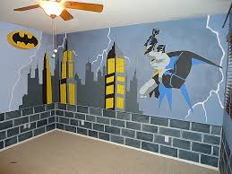 the avengers 3d wall art nightlight luxury batman room makeover started with blue walls brick is painted