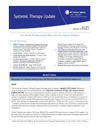 Bc Cancer Agency Chemotherapy Preparation And Stability Chart For Health Professionals Who Care For Cancer Patients