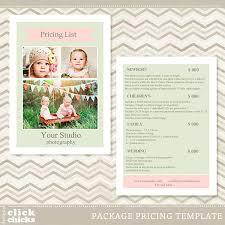 Photography Pricing Template Photography Pricing List Template 14