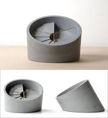40 awesome gift ideas for architects and interior designers a concrete desk clock