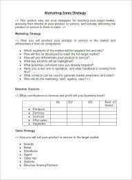 Sales Plan Template Word