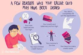 a credit card application was denied
