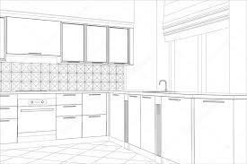 Реферат эскиз дизайн интерьера кухни Иллюстрации созданные в d  Реферат эскиз дизайн интерьера кухни Иллюстрации созданные в 3d стоковый вектор 69616517