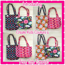 Free Tote Bag Patterns Interesting Create Kids Couture Free Tote Bag Tutorial