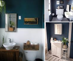 Teal blue and Grey Blue Bathrooms