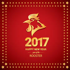 2017 chinese new year of rooster with stars frame vector 03