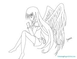 Angel Girl Coloring Page Best Free Coloring Pages Site