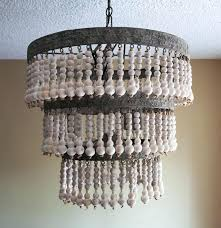 pottery barn chandeliers reviews fresh wooden beaded chandelier picture wood bead photograph mila re