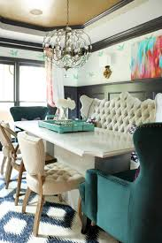 teal dining rooms. Dining Room. Tufted Bench, Teal Wingback Chairs, Rooms I