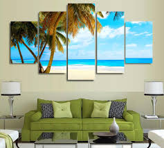 Palm Tree Decor For Living Room Online Get Cheap Canvas Poster Palm Tree Aliexpresscom Alibaba