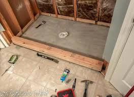 tile shower waterproofing walls before tiling and after love pasta floor concrete