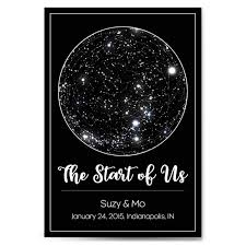 Custom Personalized Star Constellation Map With Frame Option Star Chart Choose Your Font Custom Engagement Anniversary Birthday Baby Gift Night