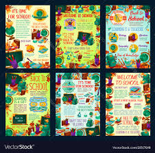 School Study Education Science Posters