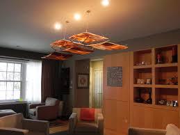 bleier residence fused slumped glass chandelier