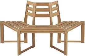 vidaXL <b>Tree Bench Half-hexagonal</b> 160 cm Solid Acacia Wood ...