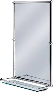 Burlington Bathrooms Chrome Rectangular Mirror with shelf