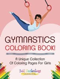 Gymnastics beam printable coloring page, suitable for teens or adults. Gymnastics Coloring Book A Unique Collection Of Coloring Pages For Girls Illustrations Bold 9781641938594 Amazon Com Books