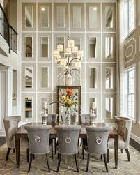 beautiful dining room decor ideas transitional style with grey and cream full height mirrored wall is so elegant the post dining room decor ideas