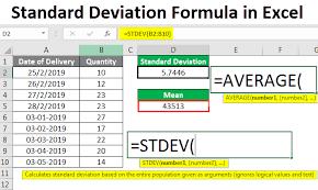 Excel Chart Average And Standard Deviation Standard Deviation Formula In Excel How To Calculate Stdev