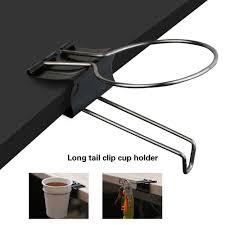 home office use drink coffee cup holder clip desk table handbag keys stand rack