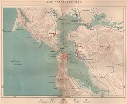 San Francisco Bay California 1885 Old Antique Vintage Map Plan Chart