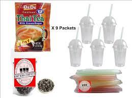 dede thai tea boba bubble tea kit diy drinks cups lids straws free new