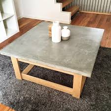 wonderful home interior attractive cement top coffee table of parsons concrete dark steel base 48x28