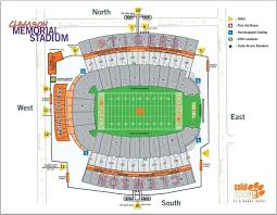 Lsu Seating Chart With Rows Clemson Football Stadium Seating Chart Rows