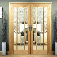 interior doors with glass oak door pair clear safety top panel gl interior glass doors white primed pane