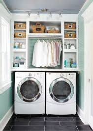 Classic open laundry cupboards