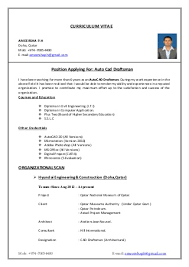 Civil Draughtsman Resume Sample Famous Resume Format For Civil