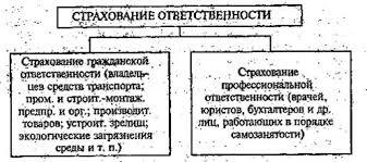 Курсовая работа Страховая деятельность в Республике Казахстан  Классификация страхования ответственности по подотраслям