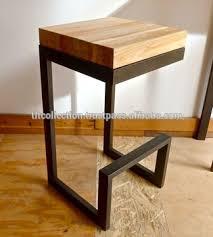 wood metal bar stools. METAL BAR STOOL WITH BACK REST AND WOOD SEAT , VINTAGE DESIGNER Wood Metal Bar Stools R