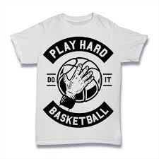 Play Basketball Hard T Illustration Shirt