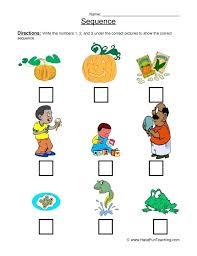 Sequencing Worksheet For Kindergarten Pumpkin Story Events ...