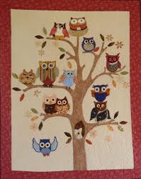 171 best Animal Quilts images on Pinterest | Animal quilts ... & Owl Quilt Adamdwight.com