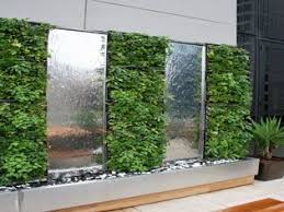 office water features. Vertical Green Wall With Alternating Polished Stainless Steel Water Feature. Sports A Variety Office Features M
