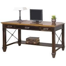 martin furniture hartford writing desk in two tone distressed black