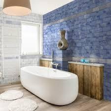 beautiful blue gloss brick tiles with