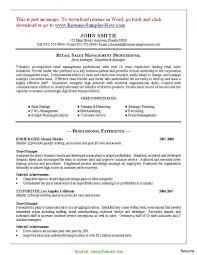 Simple Retail Pharmacy Manager Resume Pharmacist Resume Samples