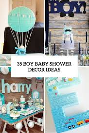 Turquoise Baby Shower Decorations 35 Boy Baby Shower Decorations That Are Worth Trying Digsdigs