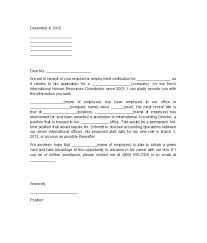 Work Verification Letter From Employer Letter Of Recommendation