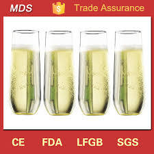 china whole bulk stemless champagne flute glass china stemless flute glass stemless champagne flute